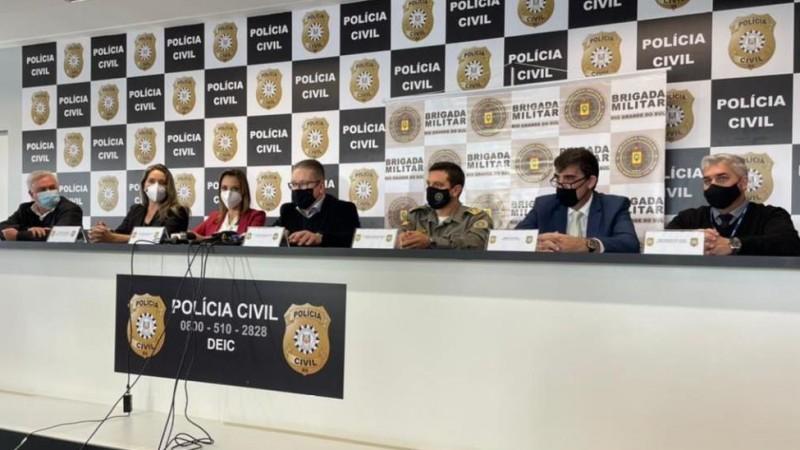 Em entrevista coletiva foi destacado que prisões foram resultado de operação integrada entre as forças de segurança do Estado - Foto: Carlos Vogt / Polícia Civil