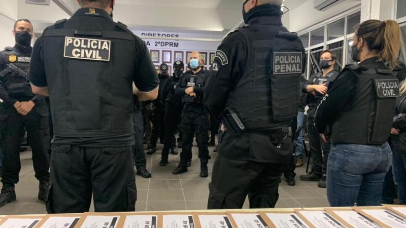 Operação 24por48 foi deflagrada após 2 meses de investigação. - Foto: Polícia Civil / 4DP Canoas Foto divulgação: Polícia Civil