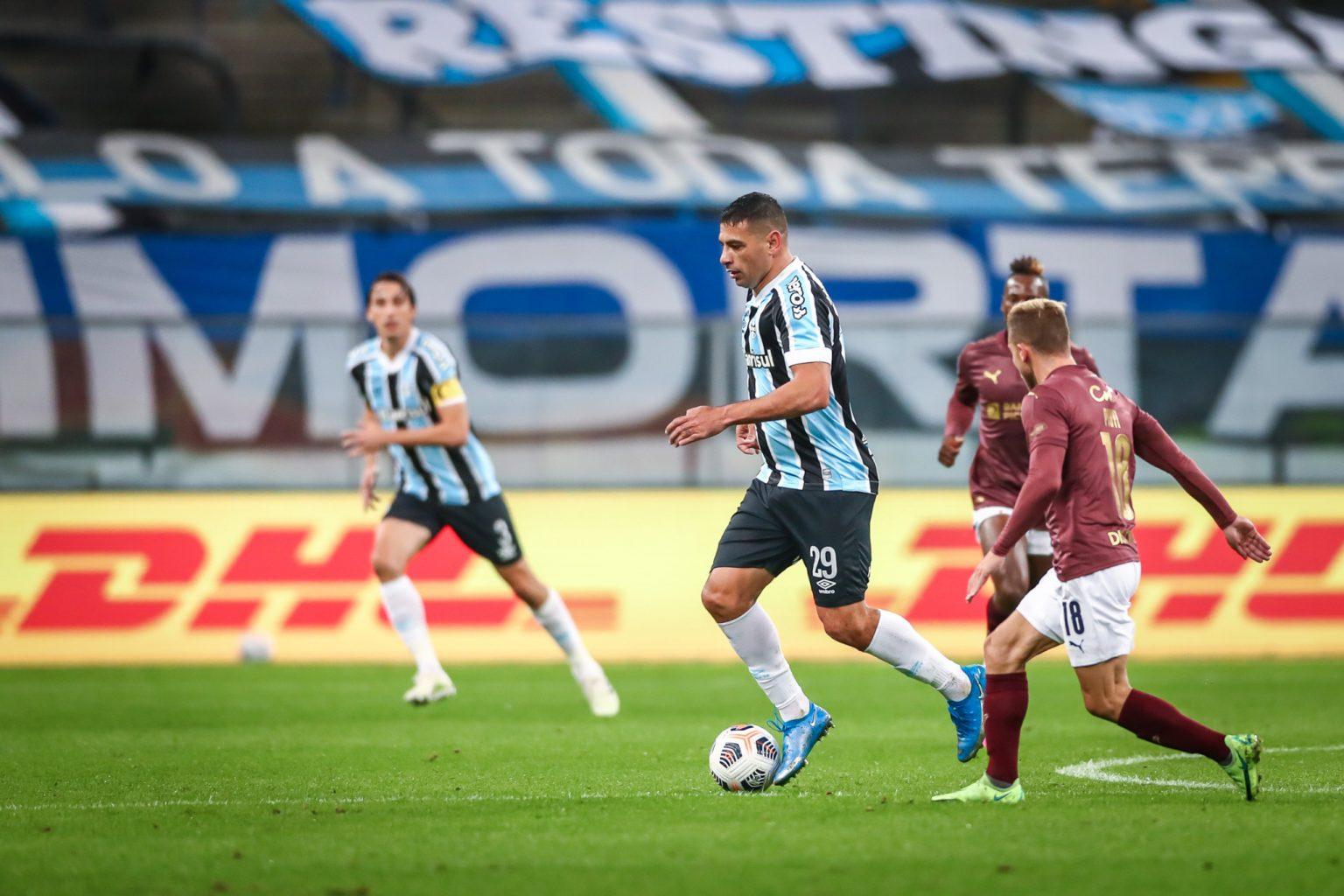 Mesmo com a vitória em Quito, por 1 a 0, o Tricolor não conseguiu seguir na competição. Foto: Lucas Uebel/Grêmio FBPA