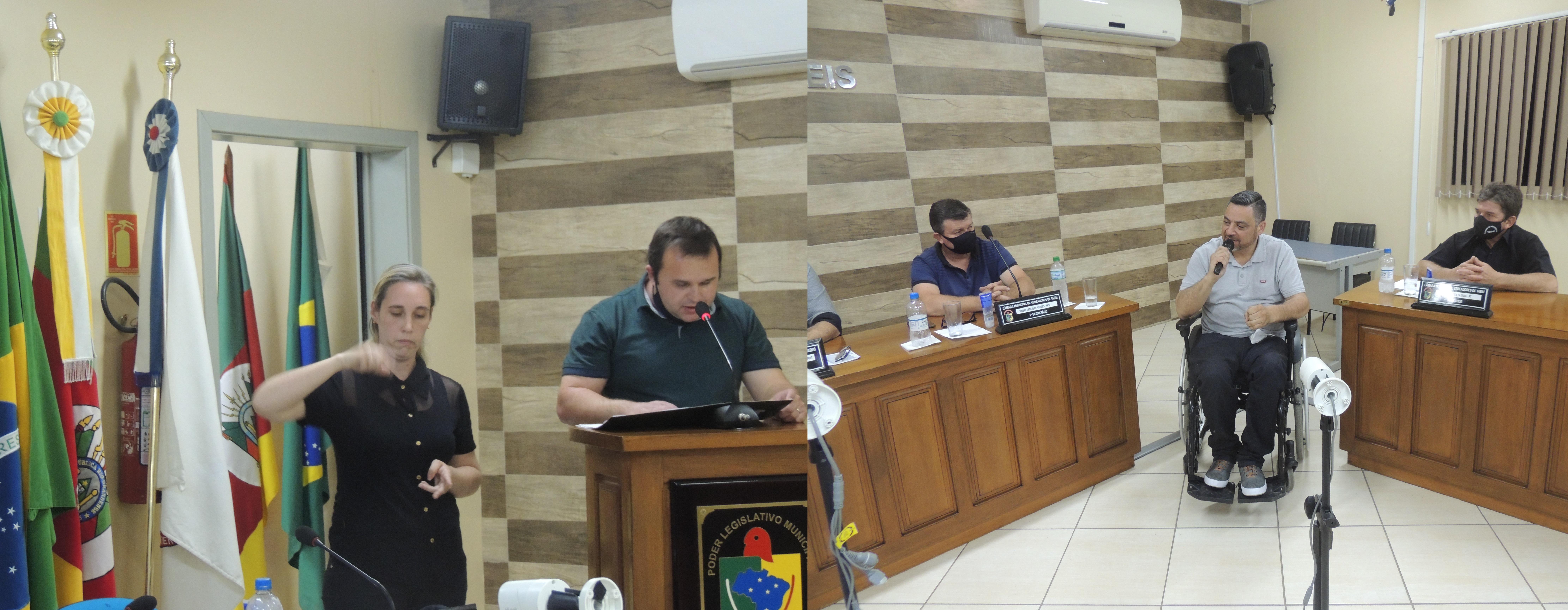Sessão Ordinária do dia 01 de setembro de 2021-Foto divulgação: Jorge Ramos -Tabaí/RS