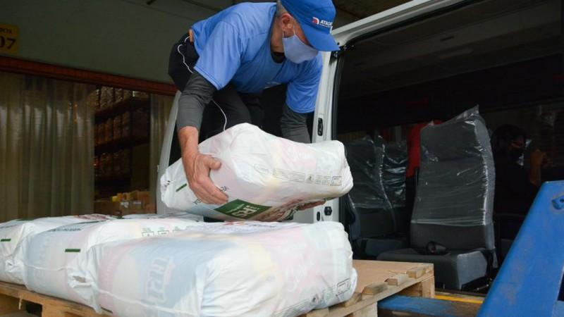 Nesta quarta (8/9), 513 cestas básicas foram distribuídas - Foto: Felipe Farias/Ascom SICDHAS