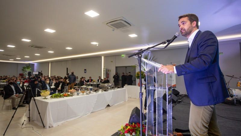 O encontro do governador com prefeitos é um tradicional evento realizado na feira - Foto: Felipe Dalla Valle/Palácio Piratini